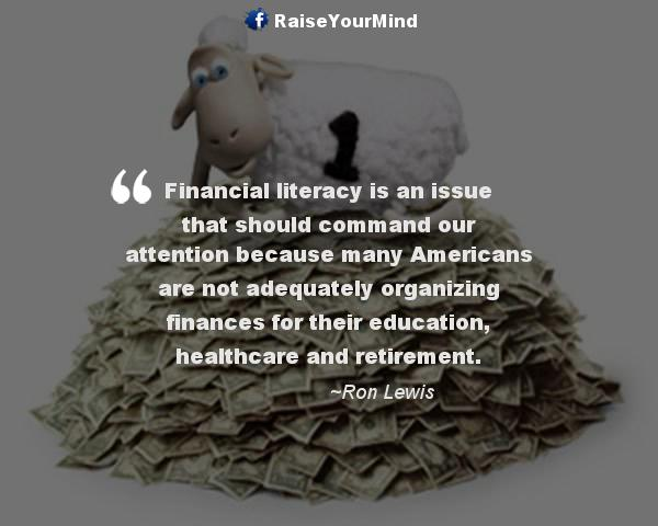 Financial Literacy Quotes Sayings Verses Advice Raise Your Mind