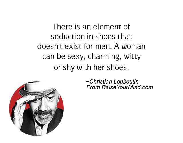 christian louboutin quotes crossword