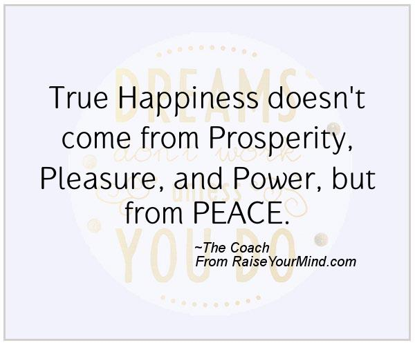 True Happiness Love Quotes: True Happiness Doesn't Come From Prosperity, Pleasure, And