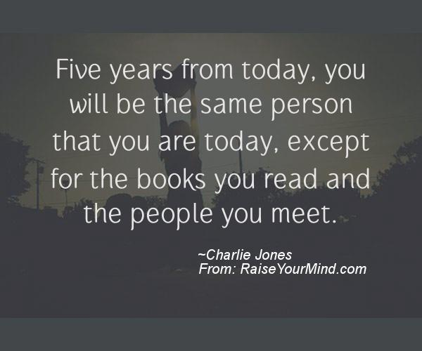 Image result for charlie jones quote books you read