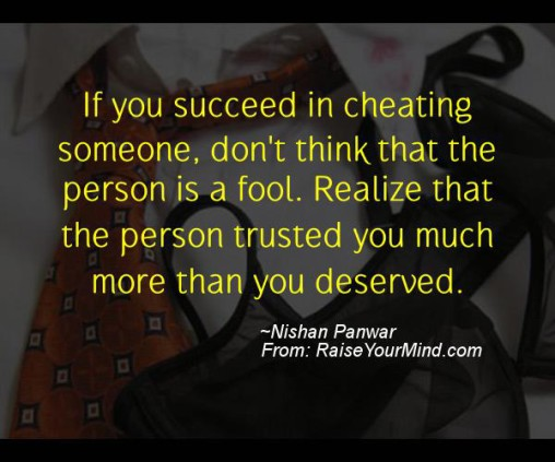 how to make someone feel guilty for cheating