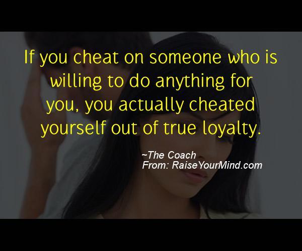cheat someone