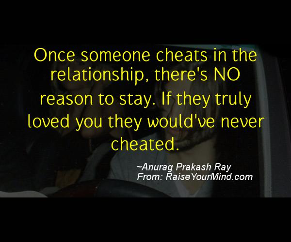 If Someone Cheats On You What Should You Do