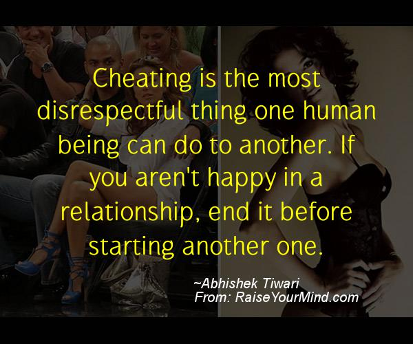 Dealing with cheating in a relationship