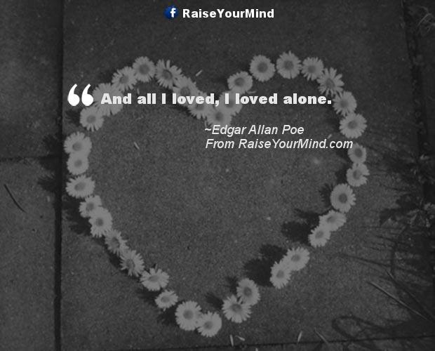 Edgar Allan Poe Love Quotes Inspiration Edgar Allan Poe Quotes Sayings Verses & Advice  Raise Your Mind
