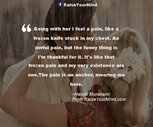 Pain of being in love