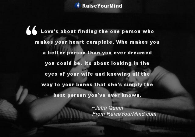 Knowing she is the one