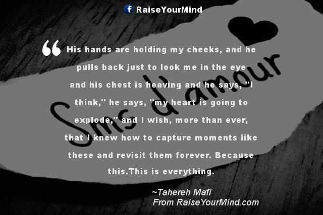 Love Quotes, Sayings & Verses | His hands are holding my