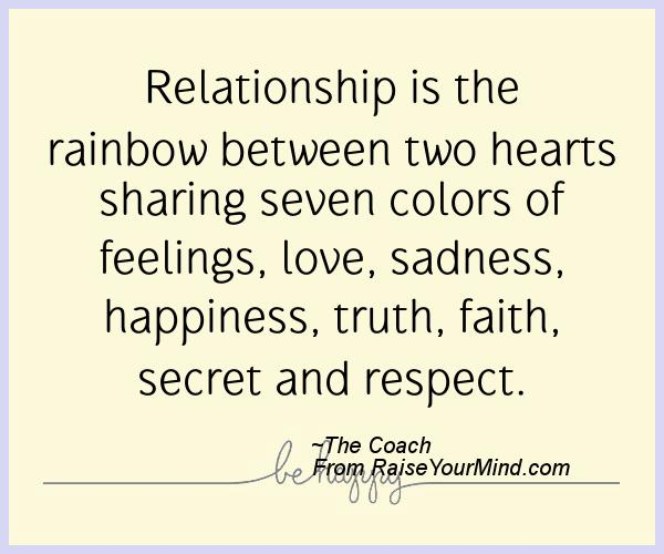 happiness quotes relationship is the rainbow between two hearts