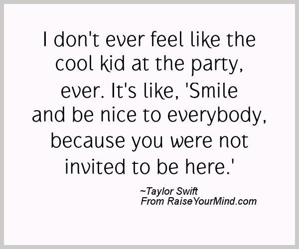 A nice happiness quote from Taylor Swift - Proverbes Happiness