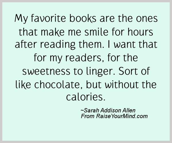 A nice happiness quote from Sarah Addison Allen - Proverbes Happiness
