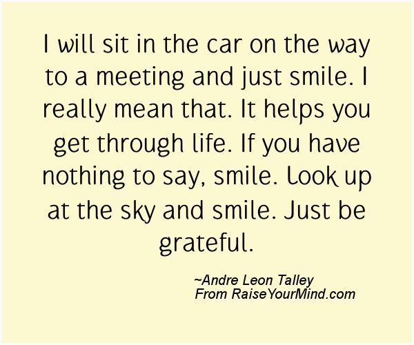 A nice happiness quote from Andre Leon Talley - Proverbes Happiness