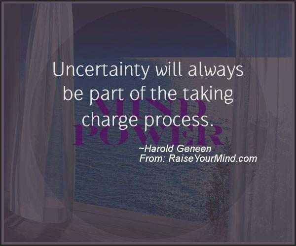 A nice motivational quote from Harold Geneen
