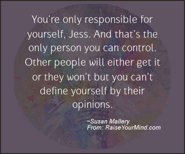 A nice motivational quote from Susan Mallery