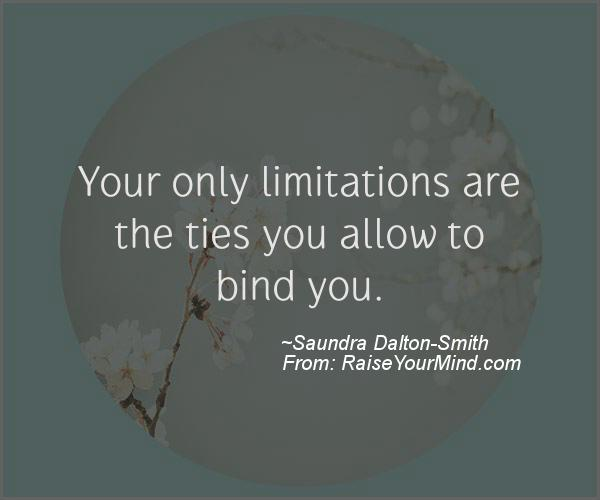 A nice motivational quote from Saundra Dalton-Smith