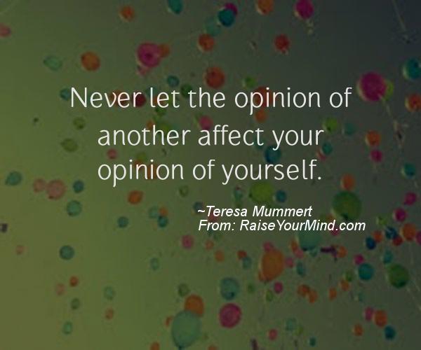 A nice motivational quote from Teresa Mummert