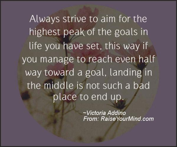 A nice motivational quote from Victoria Addino