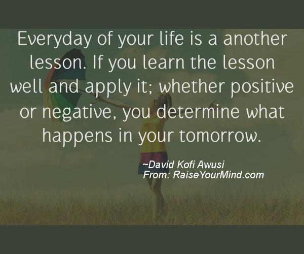 A nice motivational quote from David Kofi Awusi