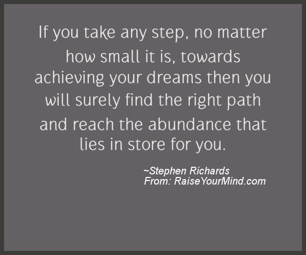 A nice motivational quote from Stephen Richards