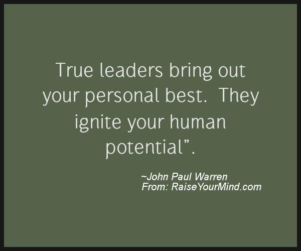 A nice motivational quote from John Paul Warren