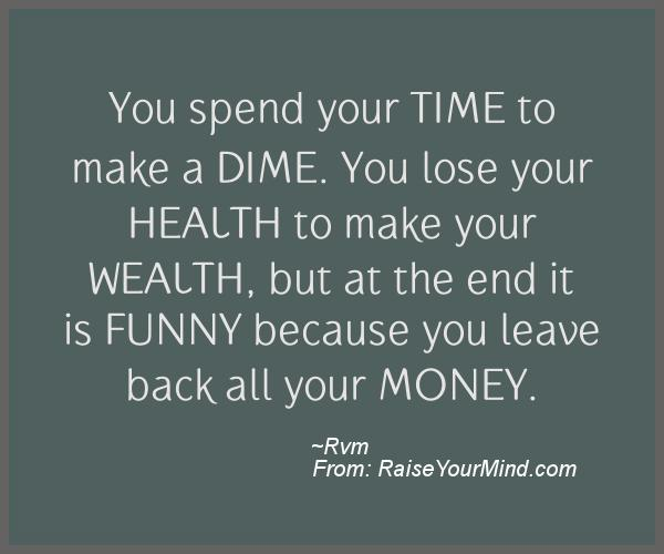 A nice motivational quote from Rvm