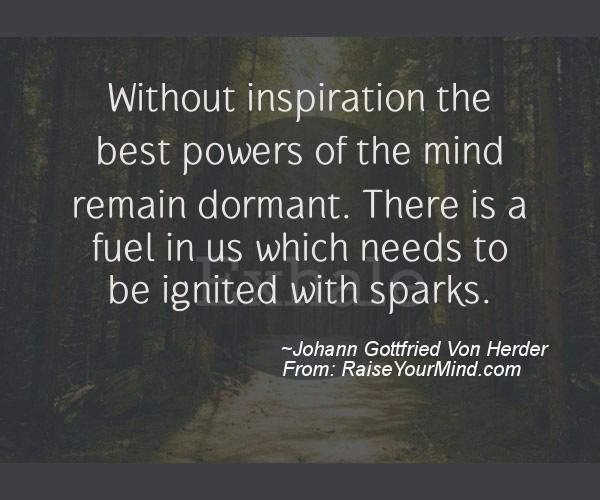 A nice motivational quote from Johann Gottfried Von Herder