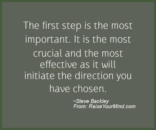 A nice motivational quote from Steve Backley