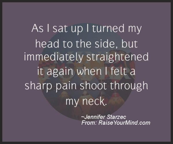 A nice motivational quote from Jennifer Starzec
