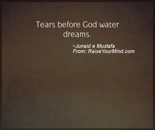 A nice motivational quote from Junaid e Mustafa