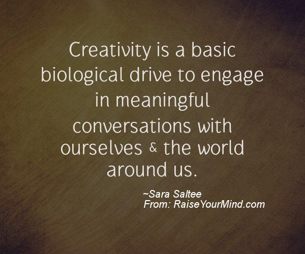 A nice motivational quote from Sara Saltee
