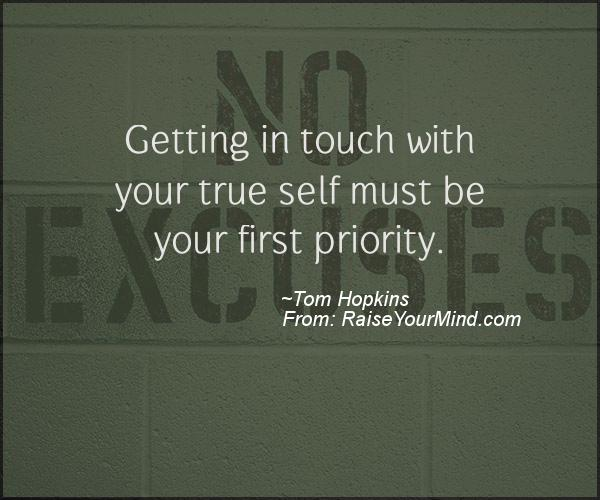 A nice motivational quote from Tom Hopkins