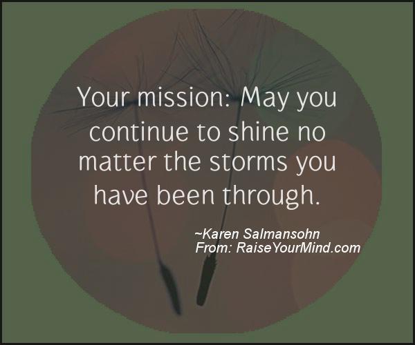 A nice motivational quote from Karen Salmansohn