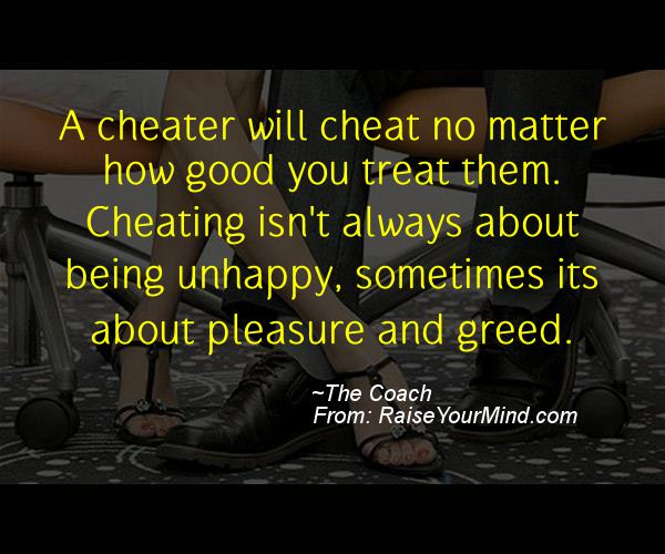 A nice cheating quote from