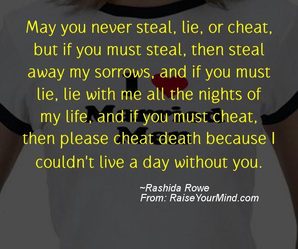 A nice cheating quote from Rashida Rowe