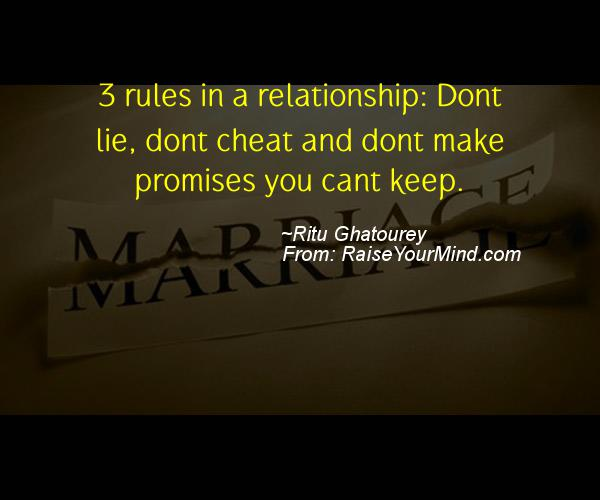 Cheating Verses & Funny Quotes | 3 rules in a relationship ...