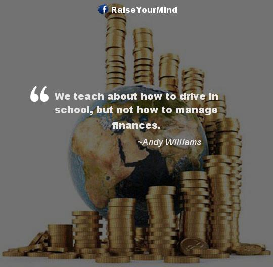 howto manage finances - Finance quote image